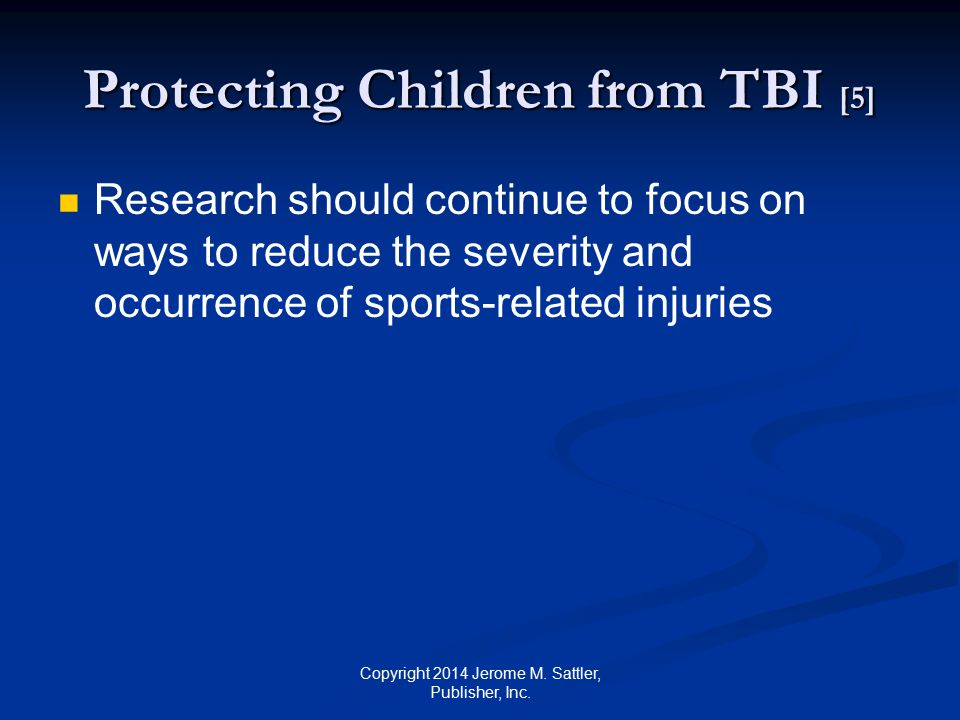 Protecting Children from TBI [5]
